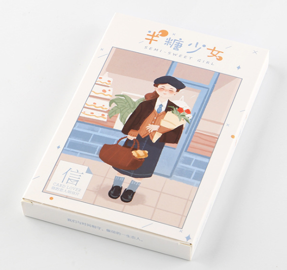 A96- Sweet Girl Paper Postcard(1pack=30pieces)