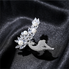 Brooch Luxourious Pearl Silver Natural Women Fine Real S925 Solid Meibapj for Elk Wedding-Jewelry