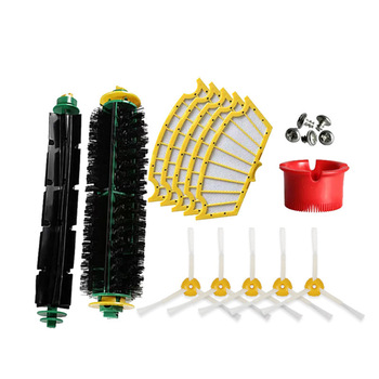 цена на 15pc/lot Filters Brush Filter Kit for IRobot Roomba 500 Series Vacuum Cleaner 510 535 540 560 570 580 610 Home Cleaning Replace