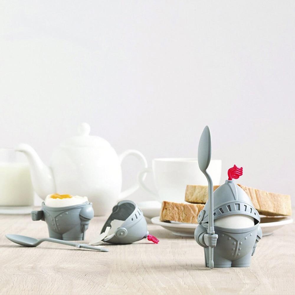 1Pc Cute Creative Knight Shape Egg Holder Children Breakfast Soldier Egg Cup Holder Kitchen Gadgets