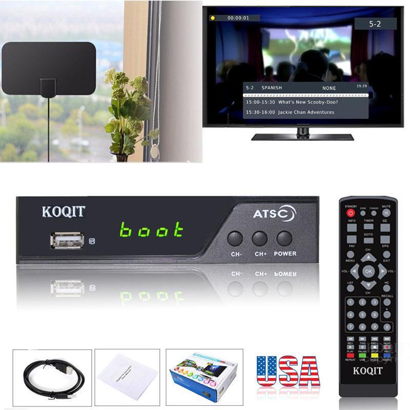 North America USA / Korea Ota Antenna Atsc Tuner Digital Converter Box Analog Digital TV Receiver ATSC Tv Recorder Media Player