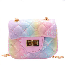 Kids Mini Pures and Bags 2021 Cute Leather Cross Body Bag for Baby Girls Small Coin Wallet Pouch Kid Clutch Purse Bag
