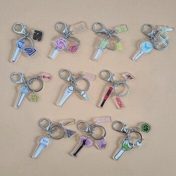 Kpop Blackpink 아크릴 키 체인 가방 펜던트 IKON, TWICE, EXO, IZONE, NCT, SJ, X1, GOT7, SEVENTEEN Keyring Key Holder