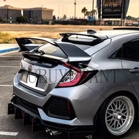 High Quality ABS Plastic Unpainted Color Type R Style Tail Wing Rear Trunk Spoiler Fit For Honda Civic Hatchback 2017 2018 2019