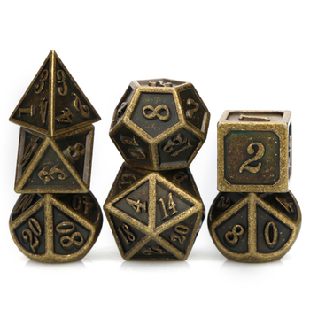 DND dice set metal dnd dices d&d dice dungeon and dragon Retro polyhedral dice tabletop rpg  dice with bag D20 D12 D10 D8 D6 D4 10pcs d10 sided polyhedral dice for tabletop rpg world of darkness vampire set of 10 d10