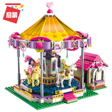 Legoingly Girls City Friends Princess Fantasy Carousel Colorful Holidays Building Blocks Sets Kids Bricks Toys Compatible