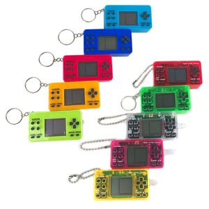 Mini Portable Retro Classic Game Console Handheld Game Player with Keychain for Kids Children Educational Gaming Toys Gifts WXTB
