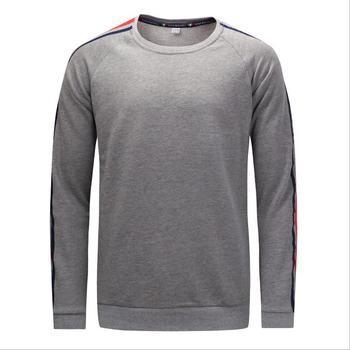 New autumn and winter pullover European and American large size men's cotton thick webbing long-sleeved T-shirt