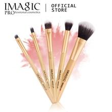 IMAGIC New Women's Fashion Brushes 5PC Wooden Cosmetics  Eyeshadow Brush Makeup Brush Sets Beauty  Tools