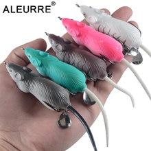 Hélice mouse isca de pesca whopper plopper biônico isca 60mm 12.5g simulação mouse isca de pesca macio cambota minnow isca
