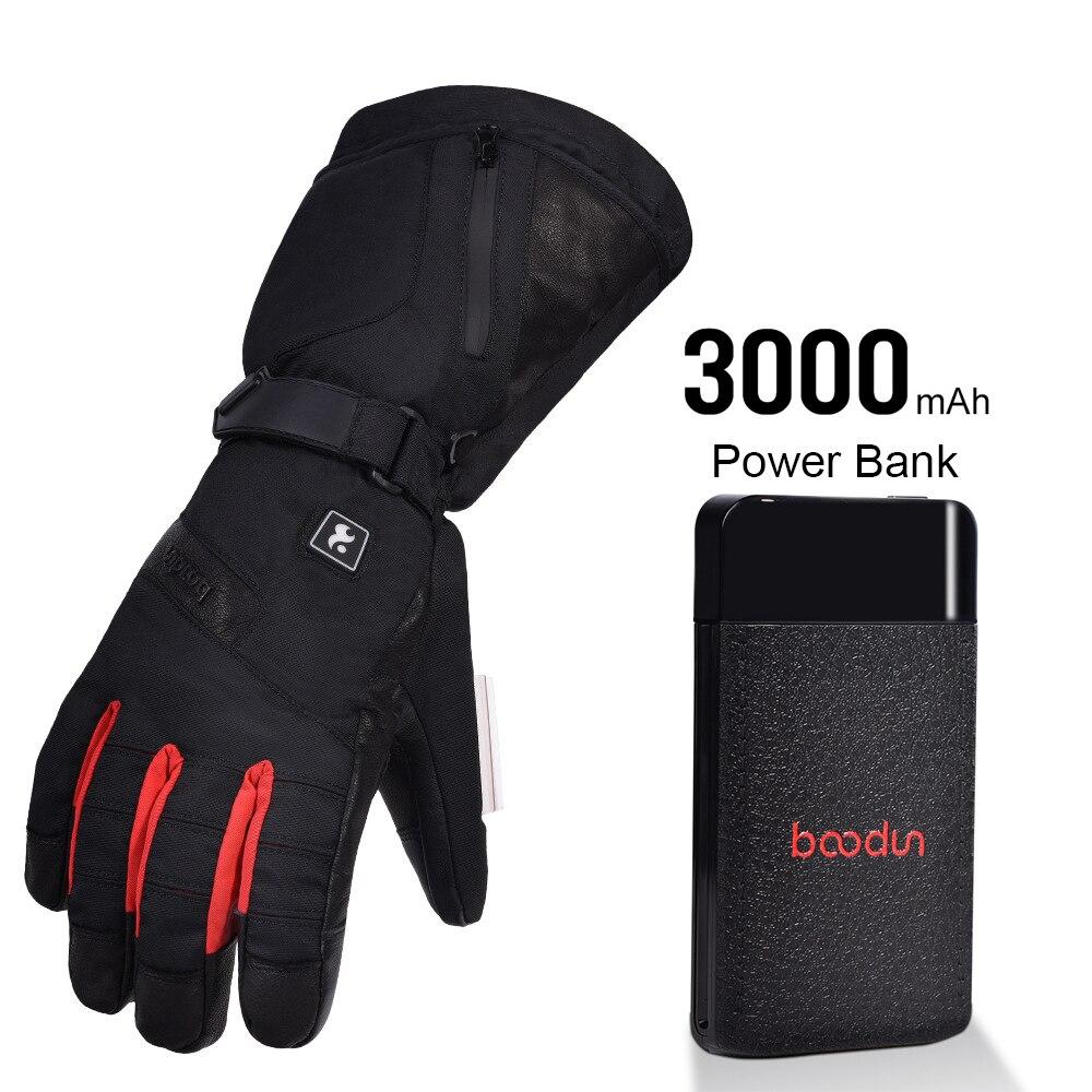 TWTOPSE cyclisme électrique chaud Sport gants avec batterie externe imperméable en peau de mouton vélo ski Snowboard randonnée hommes gants d'hiver - 2