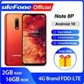 Ulefone Note 8P Smartphone Android 10 4G Celular Phone Waterdrop Screen Quad Core 2GB+16GB 5.5-inch 8MP Camera