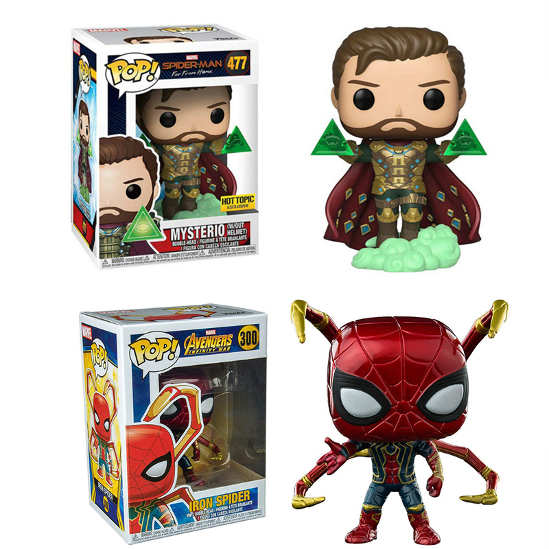 funko-pop-spider-man-far-from-home-brinquedos-font-b-marvel-b-font-mysterio-pvc-action-figures-collection-model-toys-for-gifts-2f75