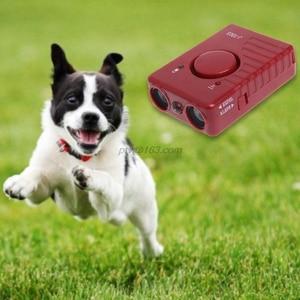Image 1 - 공격적인 개를위한 LED 가벼운 훈련 장치를 가진 애완 동물 개 Repeller 반대로 짖는 소리 중지 나무 껍질