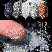 Paillettes en Zircon, pour ongles, cristal, Mini bijoux décoration pour ongles, Rose ou ongles 3D, 1.2mm
