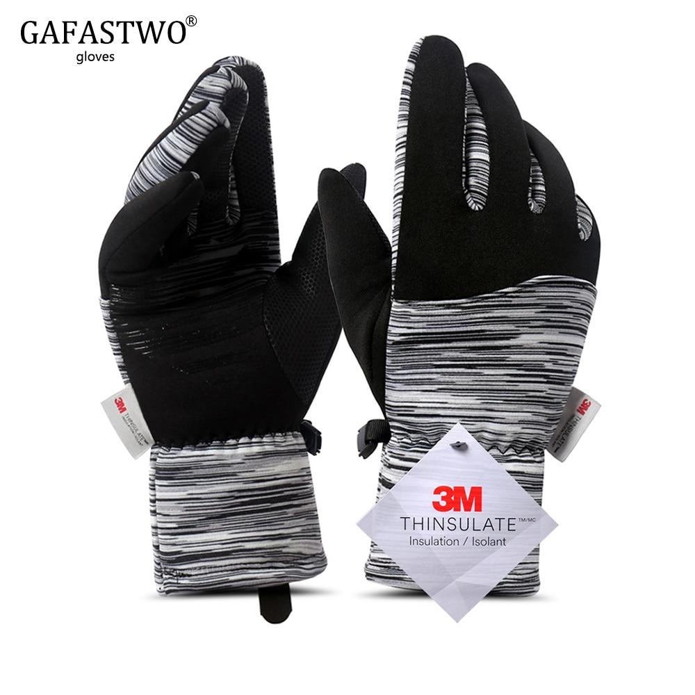 Winter Ski Warm Touch Screen Men Gloves Women Thinsulate Plus Velvet New Outdoor Sports Ladies Riding Gloves