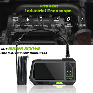 Image 4 - 5 inch Professional HD Borescope Camera Industrial Endoscope Borescope Inspection Camera with Semi Rigid Tube 3500mAh Battery