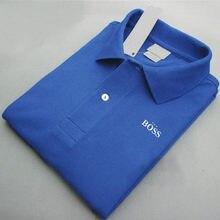Verão novo produto masculino marca chefe fino manga curta negócio simples conforto respirar livremente algodão lapela polo camisa