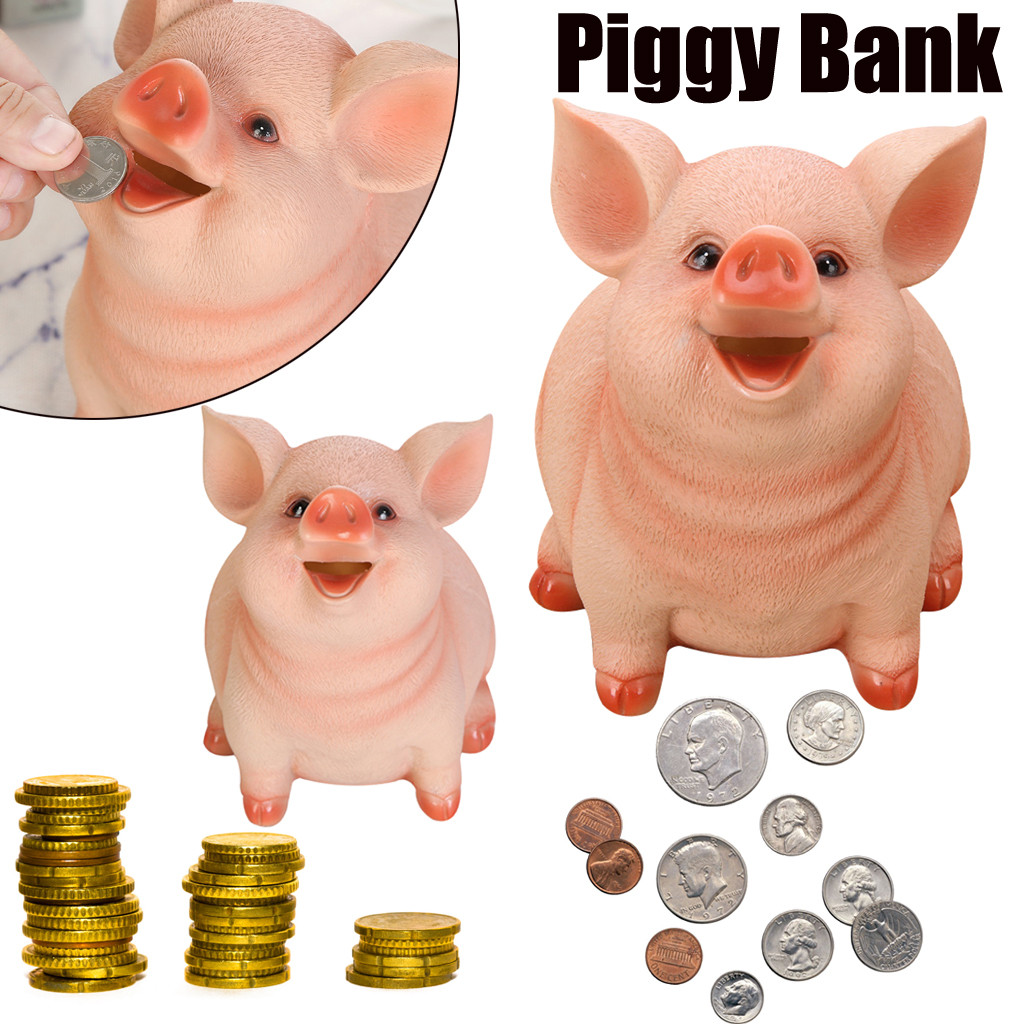 Emulation Mouse Resin Coins Cash Bank Piggy Bank Year Of The Rat Gift For Kids