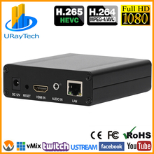 HEVC H.265 H.264 Video Encoder Support HDCP HDMI to IP Live Streaming Encoder IPTV Hardware RTMP RTSP HLS UDP SRT RTMPS Streamer