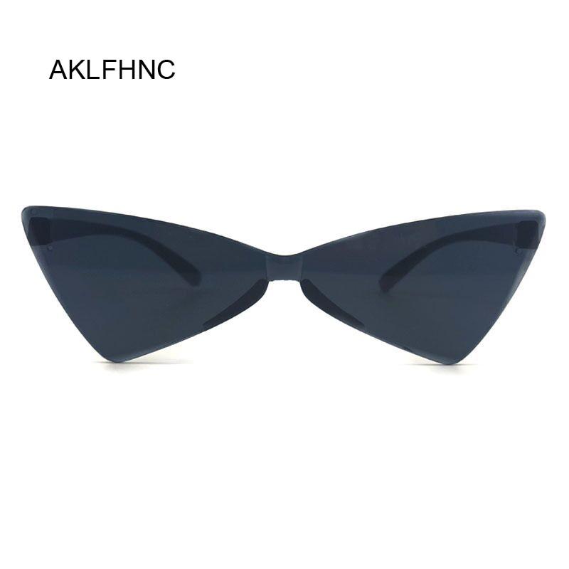 2019 Sexy Cat Eye Sunglasses Women Brand Designer Mirror Black Triangle Sun Glasses Female Shades For Ladies UV400