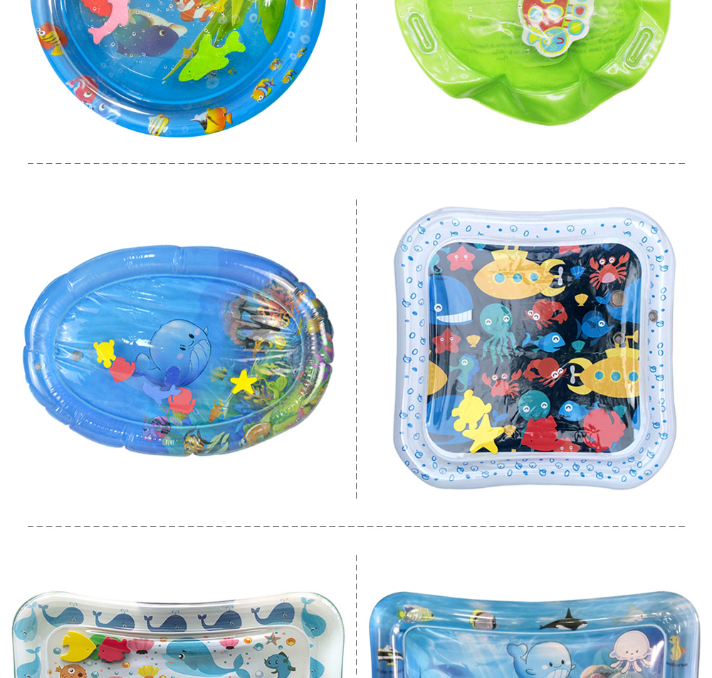 H6b8de36af3ad498fbaaf6484b308415fZ 36 Designs Baby Kids Water Play Mat Inflatable PVC Infant Tummy Time Playmat Toddler Water Pad For Baby Fun Activity Play Center