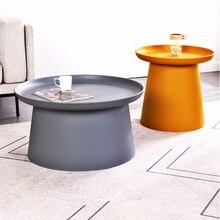 Лучший Простой Круглый Журнальный столик в скандинавском стиле, современный круглый эркерный стол для маленькой квартиры, Балконный стол, ...