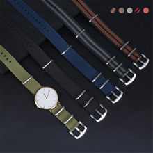 18mm 20mm 22mm 24mm New NATO Nylon Canvas Watch Band Strap High Quality Sport Waterproof Watchband Wrist Bracelet Belt Buckle(China)