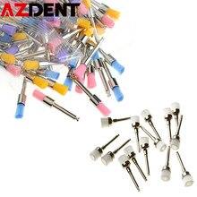 Machine à cintrer avec grande brosse de polissage dentaire, tête plate, polissage en Nylon, 100 pièces/boîte