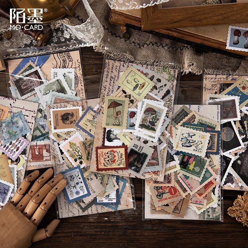 46pcs /1lot Kawaii Stationery Stickers Diary Philatelic Museum Decorative Mobile Stickers Scrapbooking DIY Craft Stickers