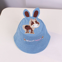 Little Donkey Cartoon Baby Boy and Girl Hat Children Bucket for Boys Girls Kids