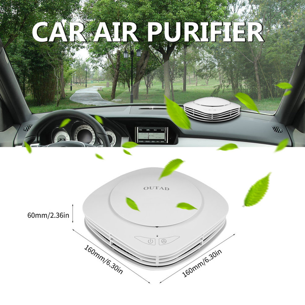 OUTAD Air Freshener Cleaner Car Air Purifier With Negative Ion Generator Activated Carbon Integrated Filter Aroma Storage Box|Car Air Purifiers| |  - title=