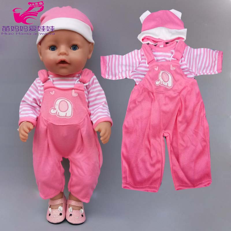 17 Inch Baby Doll Clothes Strap Pants For 40cm Doll Clothes Children Girl Toys Wearing