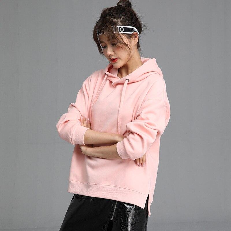 2020 New Hot Sale Ladies Hoodies for Women Fleece Female Winter Solid Colour Casual Sweatshirt 4