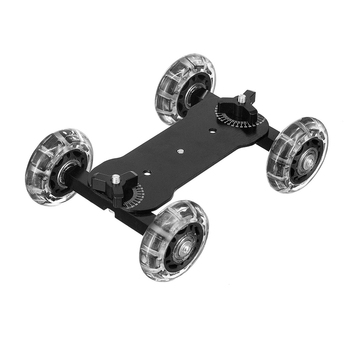 For Tabletop Mobile Rolling Sliding Dolly Stabilizer Skater Slider Magic Arm DSLR Camera Rail Stand Photography Car image