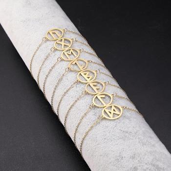 Dawapara-pulsera de amuleto pequeño Vintage de runas, joyería de acero inoxidable dorada,...