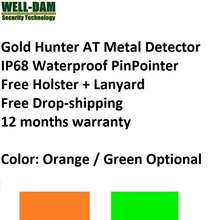 6 pçs/lote Caçador de Ouro NA mão detector de metais realizada detector de metais pinpointer detector de ouro subterrânea subaquática à prova d água