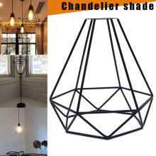 Железная клетка Современная промышленная винтажная клетка подвесной светильник Железный арт Алмазная Пирамида кованая комнатная потолочная лампа подходит