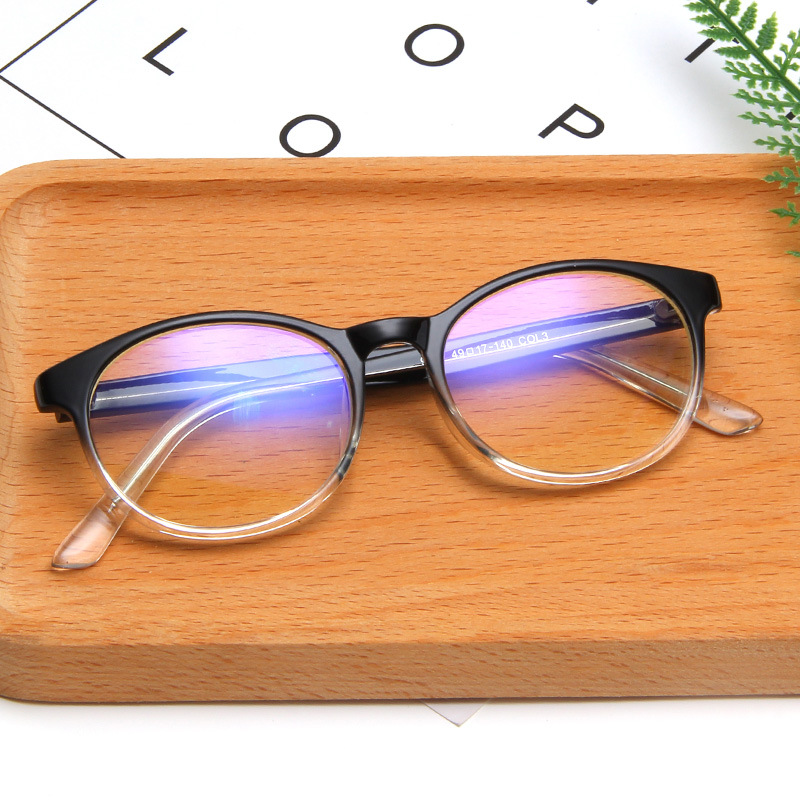 Fashion Flat Mirror European And American Trend Oval Glasses Frame Glasses Frame Can Be Equipped With Myopia Unisex