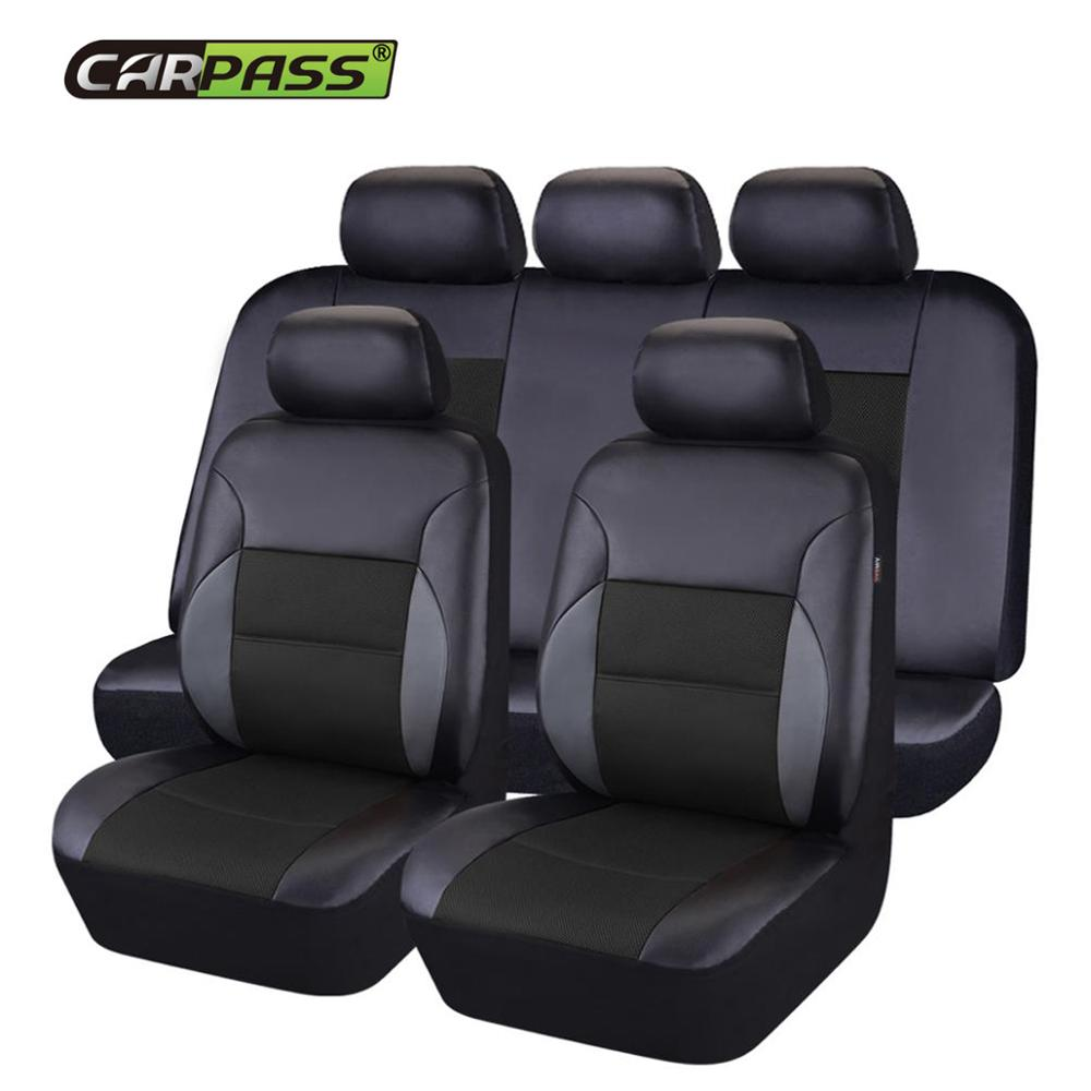 Car-pass New Leather Auto Car Seat Covers  Universal Automotive car seat cover for lada granta toyota nissan lifan x60