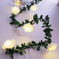 Guirnalda de luces led con guirnaldas de luces led de flores alimentadas por USB para bodas, Día de San Valentín, decoración para fiestas, 10/20/40leds