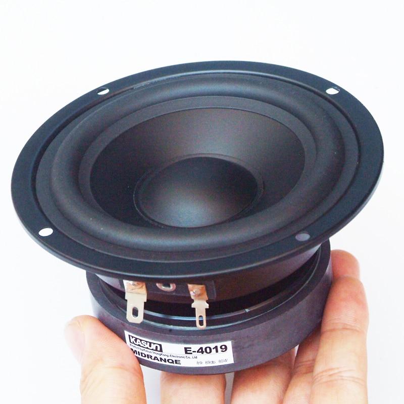4-inch Pure Mid-range Loudspeaker 80w8 Ω Household Audio-visual Appliances Fever Level Speaker