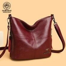 YABEISHINI 2021 Large-capacity Luxury Handbag Ladies Retro Bag Ladies Sac A Main Bag Female Leather Shoulder Bag Messenger Bags