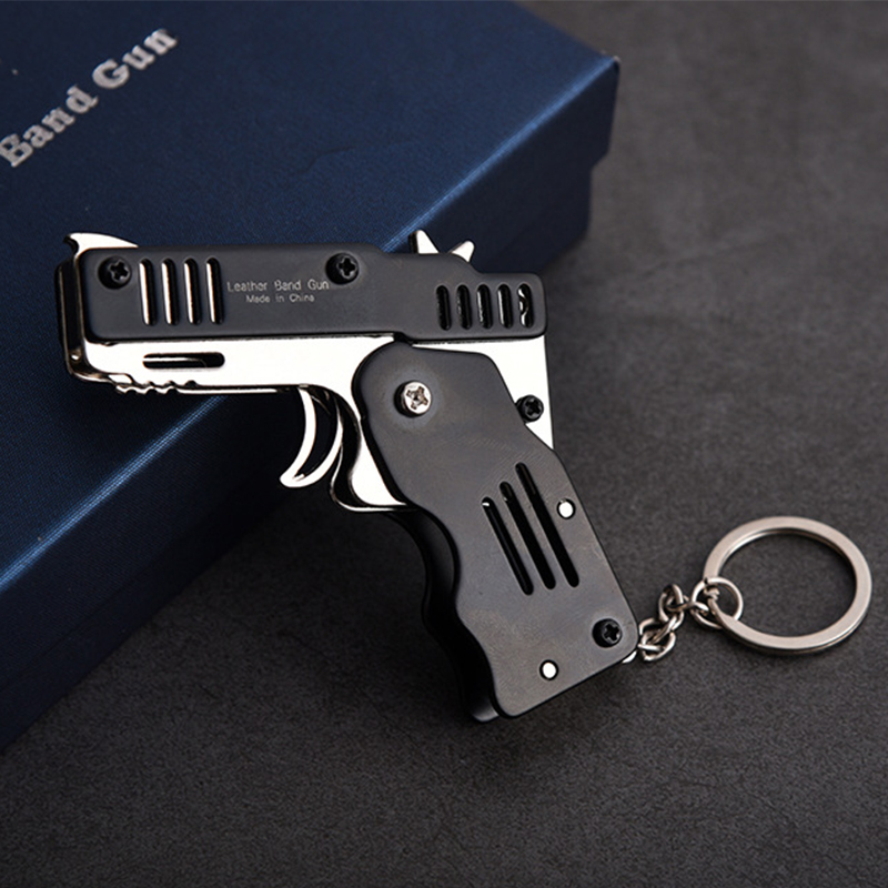 Aesthetic Gun-Shaped Keychains