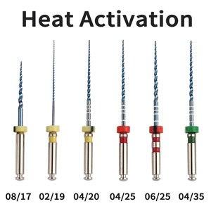 Image 1 - Arquivos odontológicos rotativos 02 04 06 acessórios da agulha do atarraxamento arquivos endônticos uso para a ativação térmica da limpeza do canal da raiz