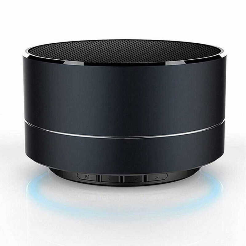 Portable Logam Nirkabel Bluetooth Speaker HI FI LED Mini Super Bass Stereo untuk Iphone Tablet