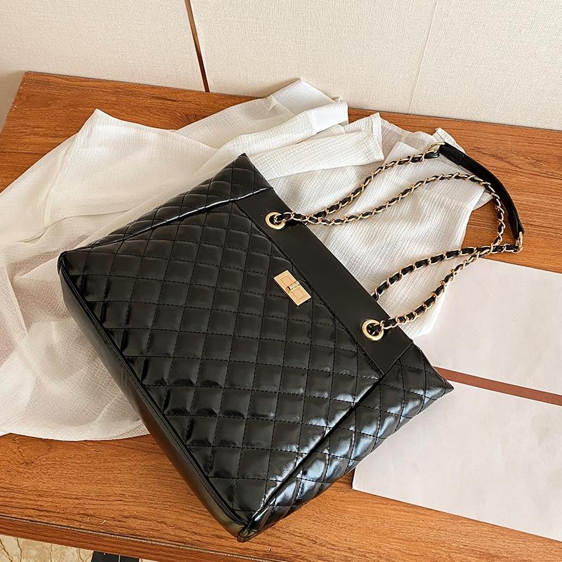 с доставкой Chain lady PU Leather Crossbody Bags 2020 Trend Shoulder Bag Women's Trending Branded Handbags Luxury Hand Bag