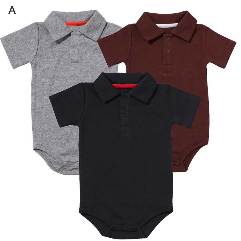 Bodysuit Organic Bebe Baby Boys' Unisex Short-Sleeve Cotton Classic Turn-Down-Collar
