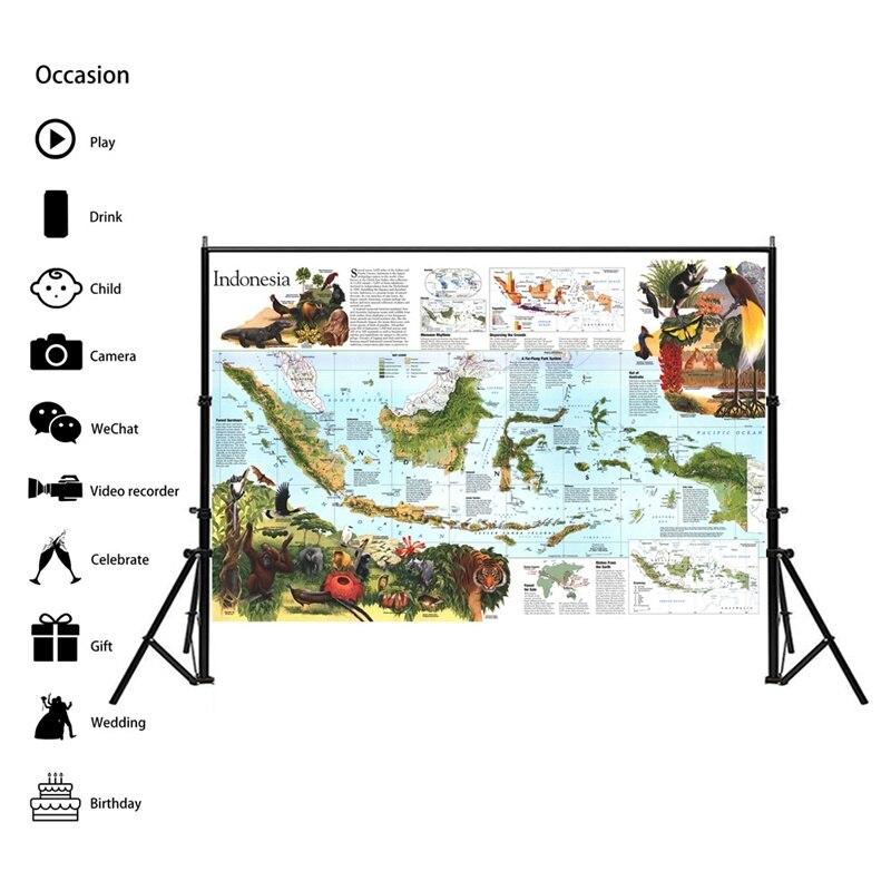 150x225cm Indonesia Map Peta Pendidikan Sekolah Siswa Peta Dekorasi Kantor Posters And Prints World Map Sticker Home Decoration