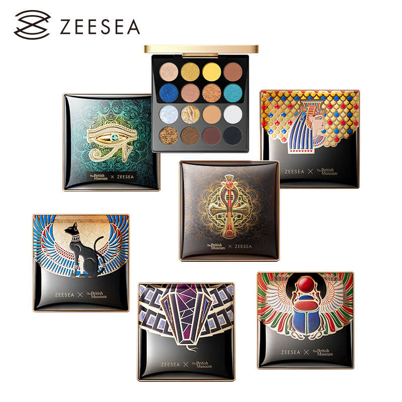 Zeesea Nieuwe 16 Kleuren Egypte Тени Eyeshadow Palette Matte Glanzend Waterdicht Holografische Make-Up Palet